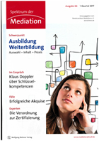 Titel - Spektrum der Mediation